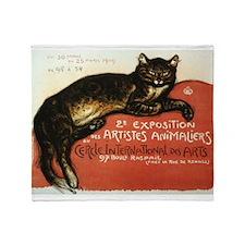 Cat, Steinlen, Vintage Poster Throw Blanket
