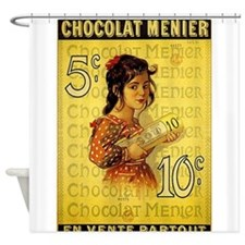 Chocolat Menier, Vintage Poster Shower Curtain