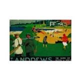 St. Andrews, Golf, Vintage Poster Rectangle Magnet