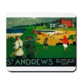 St. Andrews, Golf, Vintage Poster Mousepad