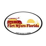 Fort Myers - Beach Design. Wall Decal