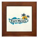 Fort Myers - Surf Design. Framed Tile