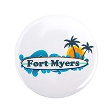 "Fort Myers - Surf Design. 3.5"" Button"