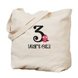 3 Years Old Baby Bird Tote Bag