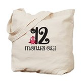12 Months Old Baby Bird Tote Bag