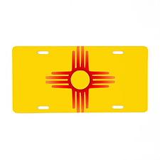 Zia Sun Symbol Aluminum License Plate