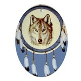 Wolf Shield Oval Ornament