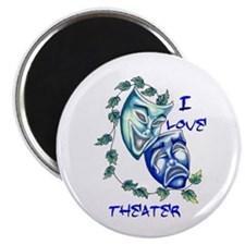 "Ilove Theater 2.25"" Magnet (100 pack)"