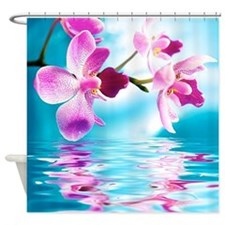 Beautiful Orchids Water Reflection Shower Curtain