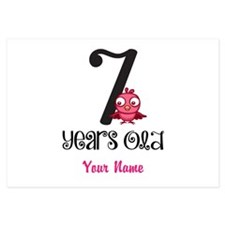 7 Years Old Baby Bird - Personalized! Flat Cards