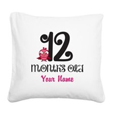 12 Months Old Baby Bird - Personalized Square Canv