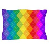 Rainbow Argyle Pattern Pillow Case