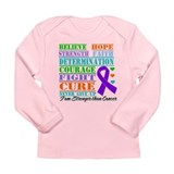 Pancreatic Cancer Believe Strength Long Sleeve T-S