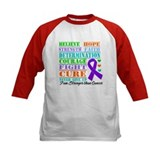 Pancreatic Cancer Believe Strength Baseball Jersey