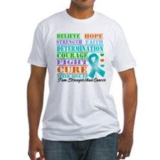 Ovarian Cancer Believe Strength T-Shirt