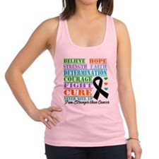 Melanoma Believe Strength Racerback Tank Top