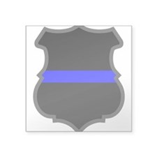 Blue Line Badge 1 Oval Sticker