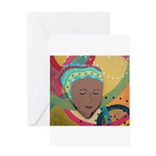 Woman Who Builds Community Greeting Card