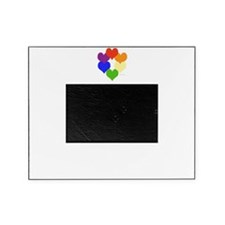 Rainbow Heart Circle Picture Frame