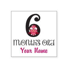 6 Months Old Baby Bird - Personalized Sticker