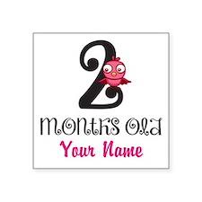 2 Months Old Baby Bird - Personalized Sticker