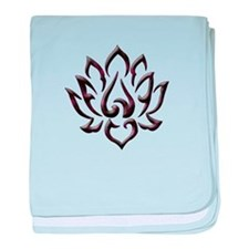 Lotus Flower baby blanket