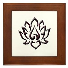 Lotus Flower Framed Tile