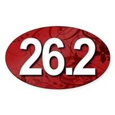 Super Unique 26.2 Fancy RED Decal