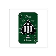 Three Percent Card - Green White (Rectangle) Stick