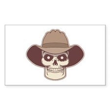 Cowboy Pirate Rectangle Decal