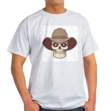Cowboy Pirate Ash Grey T-Shirt