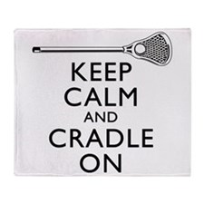 Keep Calm And Cradle On Throw Blanket