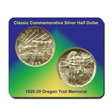 Oregon Trail Coin Mousepad