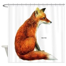 Red Fox Animal Shower Curtain