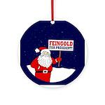 Santa For Feingold Ornament (Round)