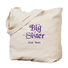 Big Sister Grunge Purple - Personalized Tote Bag