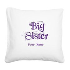 Big Sister Grunge Purple - Personalized Square Can