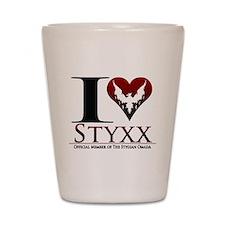 I Heart Styxx Shot Glass