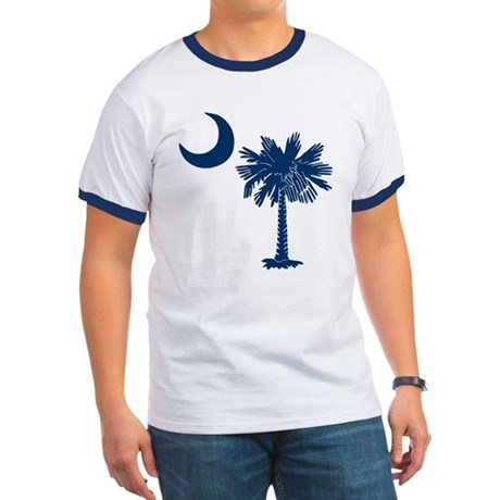 Blue Palmetto Ringer T