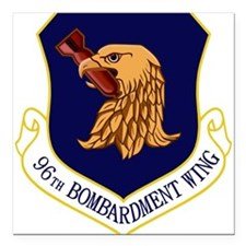 "96th Bomb Wing.PNG Square Car Magnet 3"" x 3"""