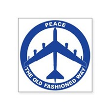 "B-52H Peace Sign Square Sticker 3"" x 3"""