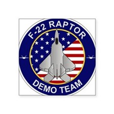 "F-22 Raptor Demo Team Square Sticker 3"" x 3"""
