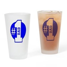 Number 1 Dad (Blue) Drinking Glass
