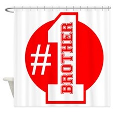 Number 1 Brother (Red) Shower Curtain