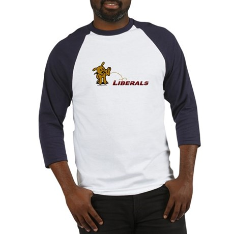 Pee on Liberals Baseball Jersey