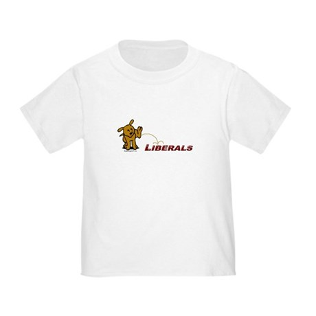 Pee on Liberals Toddler T-Shirt