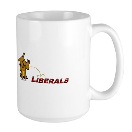 Pee on Liberals Large Mug