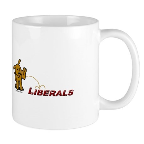 Pee on Liberals Mug