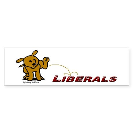 Pee on Liberals Bumper Sticker