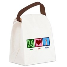 Peace Love Fashion Canvas Lunch Bag
